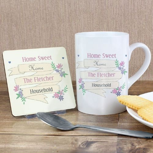 Personalised Garden Bloom Mug & Coaster Set